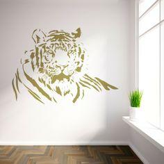 Imponente vinilo decorativo de uno de los animales más bellos, el tigre. Masquevinilo.com