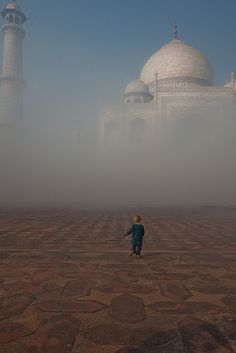 Taj Mahal in the morning mist