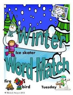 Winter Word Match is an activity in which students will practice their winter vocabulary while matching words to their picture.Five sets of words and pictures are included:Set One:     AnimalsSet Two:     Clothes / FoodSet Three:  Snow Set Four:     Dates / TimeSet Five:      Outdoor FunIdeas for Use:Cut and laminate the color cards and use in a center.