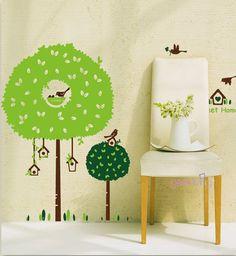 Sweet Bird Nest Wall Sticker