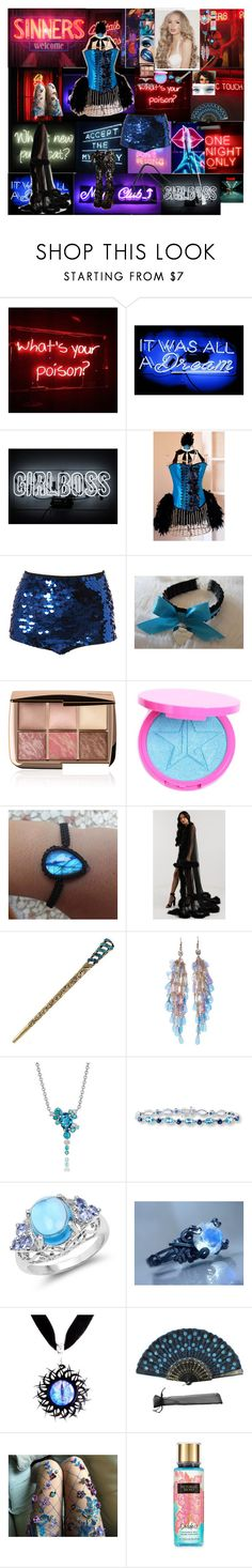 """""""Burlesque night, the queen, opening number"""" by frostedrose ❤ liked on Polyvore featuring Oliver Gal Artist Co., Hourglass Cosmetics, Malaika and Victoria's Secret"""