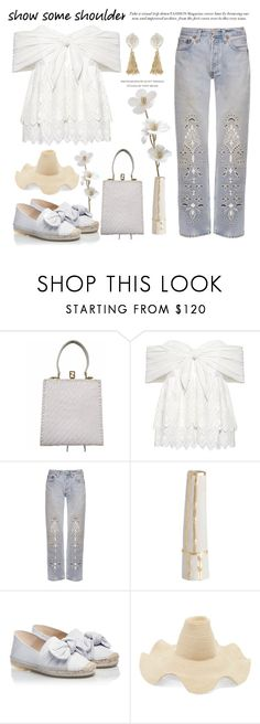 """Show Some Shoulder"" by conch-lady ❤ liked on Polyvore featuring Fendi, Sea, New York, Bliss and Mischief, Arteriors, RAS, Rosie Assoulin, Fornash, espadrille, offshouldertop and showsomeshoulder"