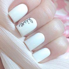 Cute and simple nail art idea