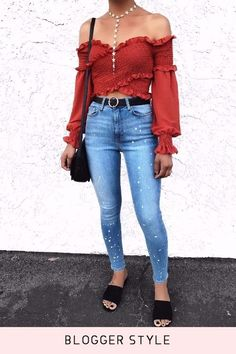 2 Colors Off-the-shoulder Cross Boho Puff Sleeve Crop Blouse Top – Lupsona