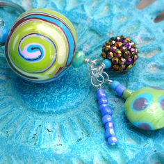 Kids backpack charm  Polymer Clay and Beaded by PurpleCactusKids