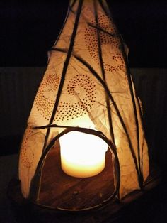 Willow Tipi Nightlight Garden Lantern