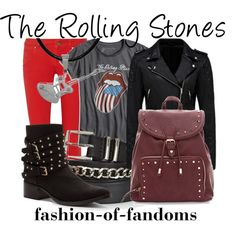 The Rolling Stones by fofandoms on Polyvore featuring Lucky Brand, Forever New, M Missoni, Penny Loves Kenny, Carolina Glamour Collection and Twist & Tango