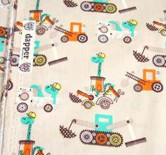 Tissu popeline 100 % coton beige motifs dinosaures, orange, vert menthe, marron : Tissus Habillement, Déco par melkikou-mercerie