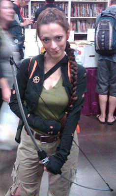 Katniss Everdeen Costume at SDCC 2011 by Ned Vizzini, via Flickr