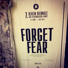 """Forget fear! It says """"do not fear"""" 365 times in the bible that one for everyday of the year.. :) Just a little thought!"""