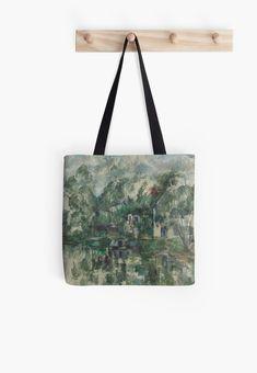orilla clásico en agua asas Arte bolsa La de Podartist de del la por Cézanne Paul ZtwtCq