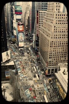 Overlooking Times Square, NYC
