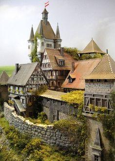 """CASTLE - Castle - Fortress Diorama """"BURG WEIR FRIED""""   eBay:"""