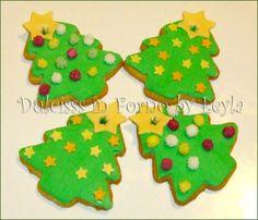 Biscotti Albero di Natale decorati in pasta di zucchero, tutorial - Christmas tree Cookies