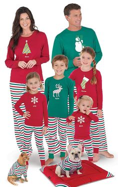 28c5050019 Holiday Stripe Matching Family Pajama Set- Red Green - C9115EC9EOJ
