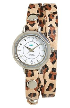 #lamercollections Retro Leopard 'Del Mar' Wrap Watch available at #Nordstrom