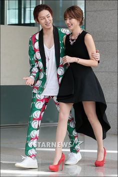 """Heechul, Puff Kuo, attend """"We Got Married"""" Press Conference - kpop fashion? ;) ♡♡"""