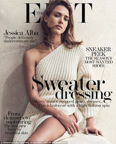 Jessica Alba discusses sexism while posing for knitwear photoshoot   Daily Mail Online