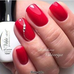 60 Stylish Nail Designs for Nail art is another huge fashion trend besides the stylish hairstyle clothes and elegant makeup for women. Nowadays there are many ways to have beautiful nails with bright colors different patterns and styles. Elegant Nail Designs, Red Nail Designs, Elegant Nails, Stylish Nails, Elegant Makeup, Red Nail Art, Red Nails, Red Manicure, Fancy Nails