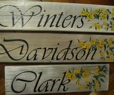 Another way of transferring letters etc to pallet signs