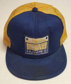 Vtg Star Hughes Trucker Hat Drillstem Testing Made In USA Oil Destroyed Oilfield #Trucker