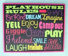 decorate inside kids playhouse - Google Search