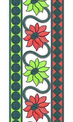 Lovely Dress Lace Embroidery Design