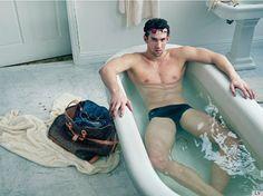 Michael Phelps Models For Louis Vuitton
