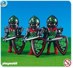 """PLAYMOBIL® 7669 - Drei Ritter der """"Grünen Drachen"""" - playmobil ritterburg playmobil ritter playmobil knights products playmobil dragons play mobil geschenkideen geburtstag playmobil ideen playmobil aufbewahrung -"""