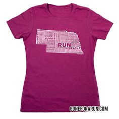 State runner everyday tees exclusively from GoneForaRun.com  #Nebraska #Run #ThereIsNoPlaceLikeNebraska