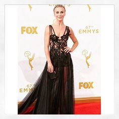 Jules Hough wearing Marchesa SS16 at the 67th Primetime Emmy awards