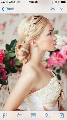 Wedding hair with a vintage brooch or flower