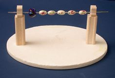 How to Fire Glazed Ceramic Beads - using old kiln element off cuts and soft fire bricks.