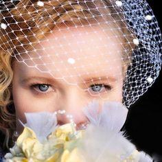 Bridal Wedding Veil Bird Cage Veil 9 Inch Polka Dot by ifanhour
