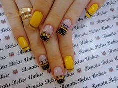 55 Modelos de Unhas Decoradas com bolinhas para te inspirar Flower Pedicure Designs, Gel Nails, Nail Polish, Stylish Nails, French Nails, Nail Arts, Sleeve Tattoos, Jelsa, Nail Art Designs