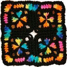 Our Most Popular Pattern: Church Window Crochet Square #grannysquarepatterns