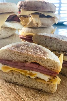 The iconic New Jersey breakfast sandwich of fried pork roll, egg and American cheese on a hard roll is a delicious culinary staple throughout the Garden State. #breakfastsandwich #porkroll #newjersey #breakfast #hangover #breakfast