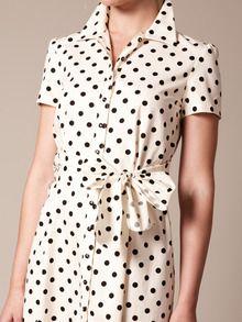 Carolina Herrera  Cotton Tie Waist Shirt Dress