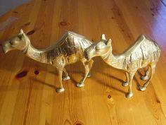 2 large brass camel ornaments by alomartesantiques on Etsy