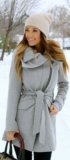 Grey Coat for Winter | winter fashion