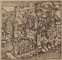 View of Rhodes, during its siege by the Ottomans, Malta History, Medieval Drawings, Greece Rhodes, Johannes, Southern Italy, Ottoman Empire, Christen, 15th Century, Dungeons And Dragons