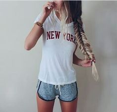 Find images and videos about girl, fashion and style on We Heart It - the app to get lost in what you love. Hello Hair, Summer Outfits, Cute Outfits, Gym Outfits, Amazing Outfits, School Outfits, Summer Clothes, Outfit Of The Day, Hair
