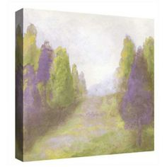 Purple trees bring dimension to this landscape wall art design. Plum purple and green landscape wall art. With Radiant Orchid purple color tones. Style # at Lamps Plus. Abstract Canvas Art, Canvas Wall Art, Canvas Prints, Purple Wall Art, Purple Home Decor, Square Canvas, Free Art Prints, Wall Art Designs, Art Pages