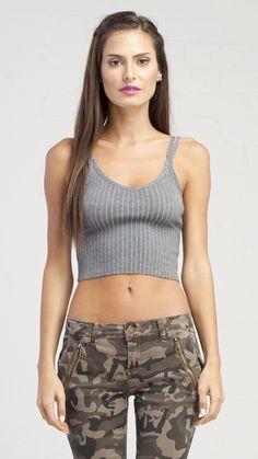 Basic Grey Cami Top