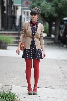 Match Your Bottoms With Your Top - All The Different Ways To Wear Tights This Fall - Photos