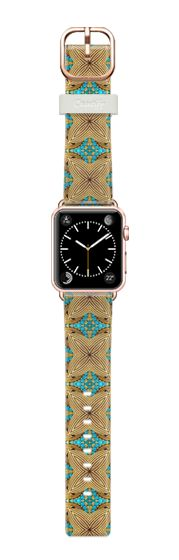 Casetify Apple Watch Band (38mm) Bracelet Casetify - blue pearls and gold by akaclem #Casetify