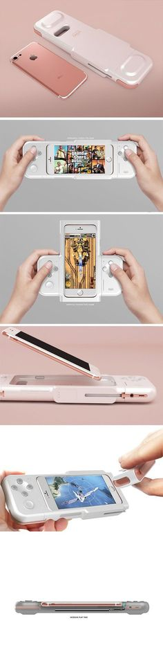 The Nintendo Cross transforms your iOS gaming experience with a full set of console-style controls. This mobile gaming powerhouse feature directional controls, 4 action buttons and a larger trigger button. At the heart of the design, however, is an innovative sliding mechanism that allows the user to play both horizontal and vertically adapted games.