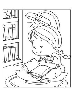Coloring page. Information Age, C'est Bon, Coloring Pages For Kids, Kids Rugs, Reading, Decor, Coloring Pages, Children, Kids Coloring Pages