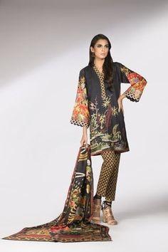 Sapphire 3 Piece Mandarin Garden A Custom Stitched Embroidered Suit - - Blue Pakistani Designers, Pakistani Dress Design, Winter Collection, Designer Dresses, Kimono Top, Silk, Couture Dresses, 3 Piece