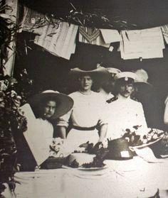 Grand Duchess Tatiana Nikolaevna and possibly Princess Nina Georgievna.